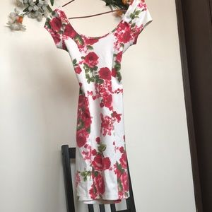 Printed StretchyFloral  Gorgeous Dress